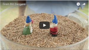 Grain Bin Dangers video screen
