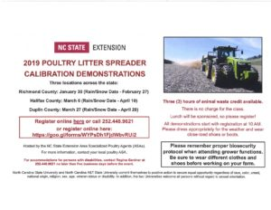 Cover photo for 2019 Poultry Litter Spreader Calibration Demonstrations