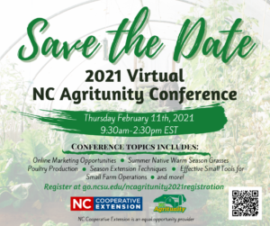 Cover photo for Virtual NC Agritunity in 2021